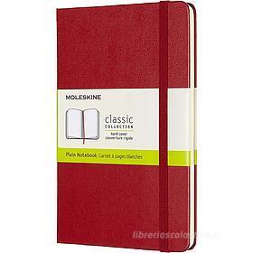 Moleskine - Taccuino Classic pagine bianche rosso - Medium copertina rigida