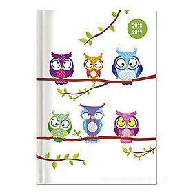 Agenda 2018-2019 settimanale 16 mesi Collegetimer Pocket Owls