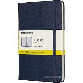 Moleskine - Taccuino Classic a quadri blu - Medium copertina rigida