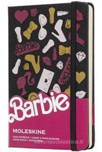 Moleskine taccuino con copertina rigida a pagine bianche pocket. Barbie accessori. Limited edition.