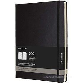 Moleskine 12 mesi - Agenda Pro settimanale verticale nero - Extra Large copertina rigida 2021