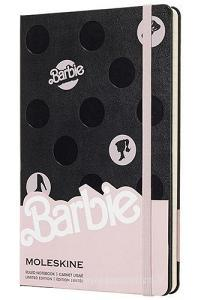 Moleskine taccuino con copertina rigida a righe large. Barbie Pois. Limited edition.