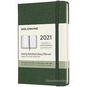 Moleskine 12 mesi - Agenda settimanale verde mirto - Pocket copertina rigida 2021