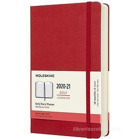 Moleskine 18 mesi - Agenda giornaliera rosso scarlatto - Large copertina rigida 2020-2021
