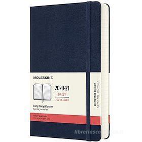 Moleskine 18 mesi - Agenda giornaliera blu zaffiro - Large copertina rigida 2020-2021