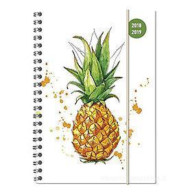 Agenda 2018-2019 spiralata settimanale 16 mesi Collegetimer A5 Pineapple