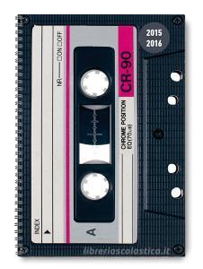 Diario settimanale 2016 Collegetimer Tape A5 Rilegatura a spirale