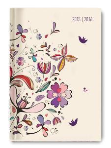 Diario giornaliero 2016 Collegetimer Flower Art A5