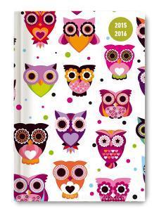 Diario giornaliero 2016 Collegetimer Owls A5