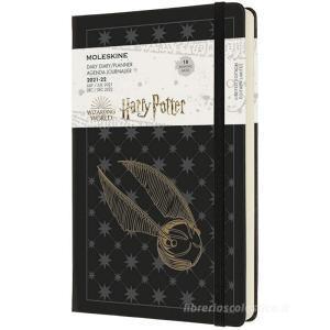 Moleskine 18 mesi - Agenda giornaliera Limited Edition Harry Potter nero - Large copertina rigida 2021-2022