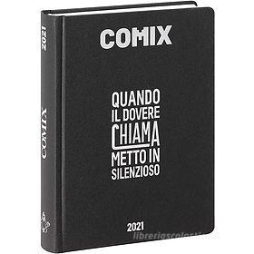 Comix 2020-2021. Diario agenda 16 mesi standard. Nero e argento