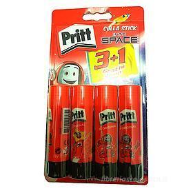Set 4 pezzi colla stick Pritt 22g