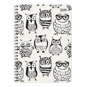 Agenda 2019 spiralata settimanale 12 mesi Ladytimer Owls