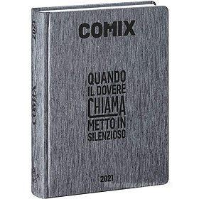 Comix 2020-2021. Diario agenda 16 mesi mini. Nero
