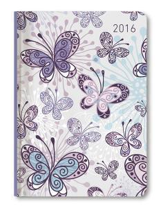 Ladytimer Butterflies Agenda Settimanale 2016