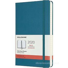 Moleskine 12 mesi - Agenda giornaliera verde - Large copertina rigida 2020