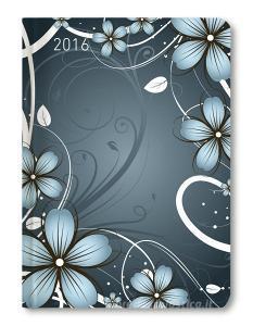 Ladytimer Blue Blossoms Agenda Settimanale 2016