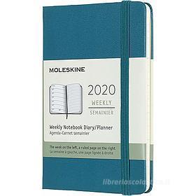 Moleskine 12 mesi - Agenda settimanale verde - Pocket copertina rigida 2020