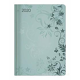 Agenda 12 mesi settimanale 2020 Ladytimer Turquoise Flowers