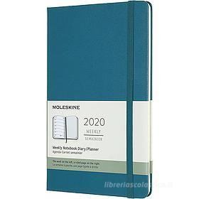 Moleskine 12 mesi - Agenda settimanale verde - Large copertina rigida 2020