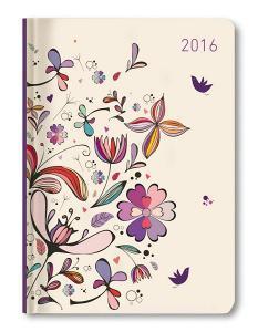 Ladytimer Flower Art Agenda Settimanale 2016