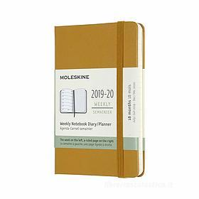 Moleskine 18 mesi - Agenda settimanale gialla - Pocket copertina rigida 2019-2020