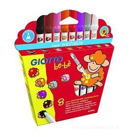 Confezione 8 pennarelli cambiacolore lavabili Giotto be-bè