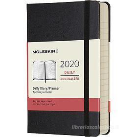 Moleskine 12 mesi - Agenda giornaliera nero - Pocket copertina rigida 2020