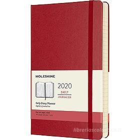 Moleskine 12 mesi - Agenda giornaliera rosso - Large copertina rigida 2020