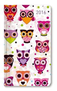 Ladytimer Slim Owls Agenda Settimanale 2016