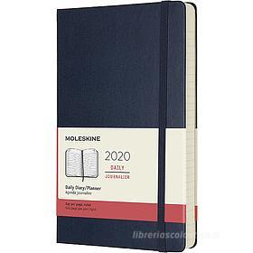 Moleskine 12 mesi - Agenda giornaliera blu - Large copertina rigida 2020