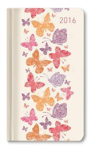Ladytimer Slim Butterflies Agenda Settimanale 2016
