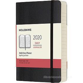 Moleskine 12 mesi - Agenda giornaliera nero - Pocket copertina morbida 2020