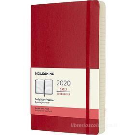 Moleskine 12 mesi - Agenda giornaliera rosso - Large copertina morbida 2020