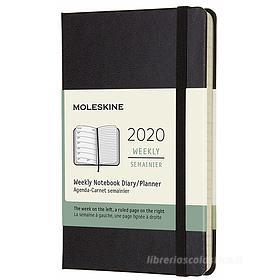 Moleskine 12 mesi - Agenda settimanale nero - Pocket copertina rigida 2020