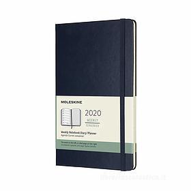 Moleskine 12 mesi - Agenda settimanale blu - Large copertina rigida 2020