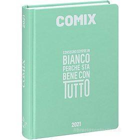 Comix 2020-2021. Diario agenda 16 mesi standard. Acquamarina