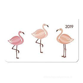 Agenda 2019 orizzontale settimanale 12 mesi Ladytimer Pad Flamingos