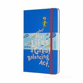 Moleskine 18 mesi - Agenda settimanale Limited Edition Dr. Seuss blu - Large copertina rigida 2019-2020
