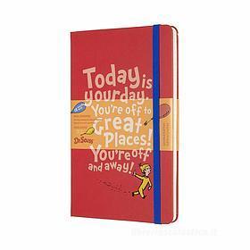 Moleskine 18 mesi - Agenda settimanale Limited Edition Dr. Seuss rossa - Large copertina rigida 2019-2020