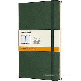 Moleskine - Taccuino Classic a righe verde - Large copertina rigida