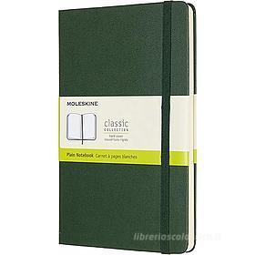 Moleskine - Taccuino Classic pagine bianche verde - Large copertina rigida