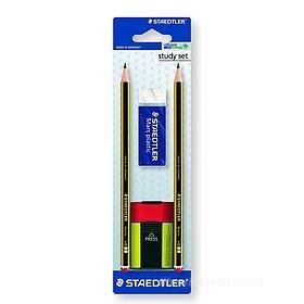 Confezione 2 matite Noris HB gomma Mars Plastic e temperino