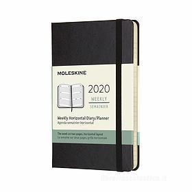 Moleskine 12 mesi - Agenda settimanale orizzontale nero - Pocket copertina rigida 2020