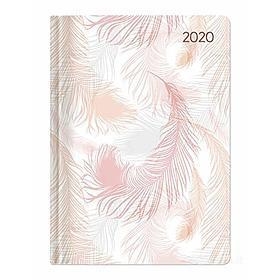 Agenda 12 mesi giornaliera 2020 Style Pastel Feathers