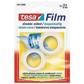 Confezione 2 rotoli di nastro Tesafilm Biadesivo